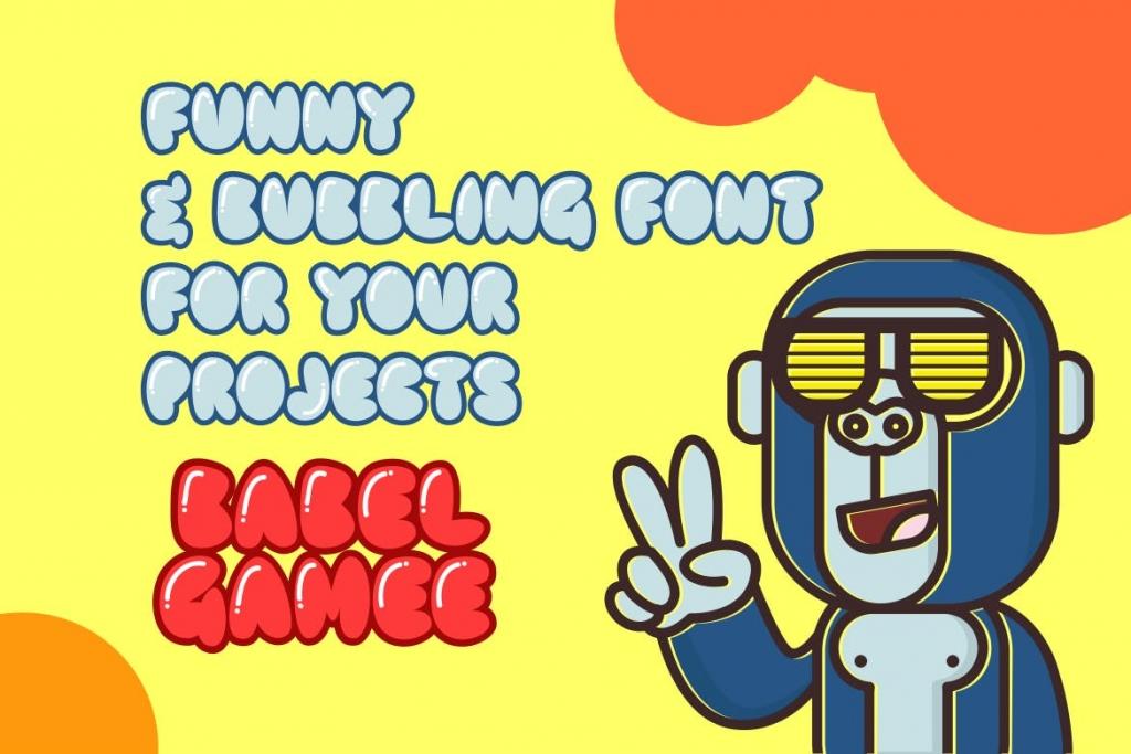Fonts | 可爱圆形闪亮形状气球胖孩子儿童英文字体