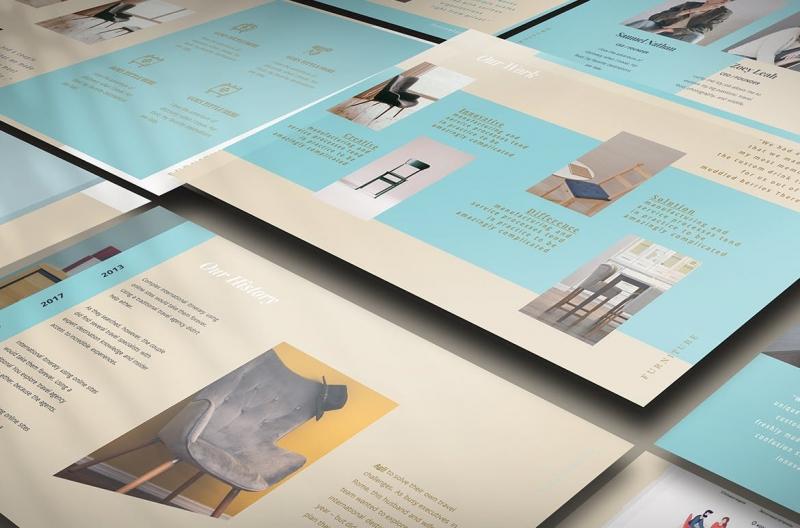 创意家具设计展示PPT模板下载[PPTX]