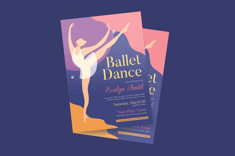芭蕾舞活动传单海报模板下载【psd】【ai】