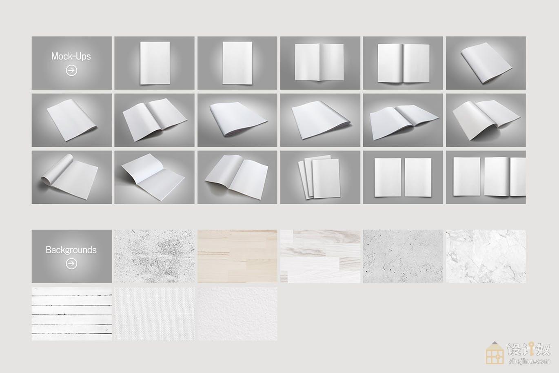 精选多角度的杂志画册设计展示样机素材下载【PSD】