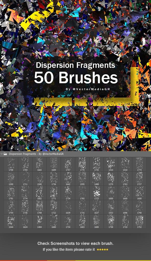50个破碎分散的碎片photoshop笔刷透明素材