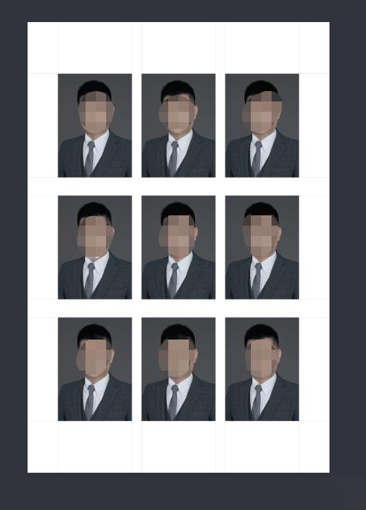 Adobe Photoshop 动作PS一寸证件照自动识别裁剪排版动作.ATN
