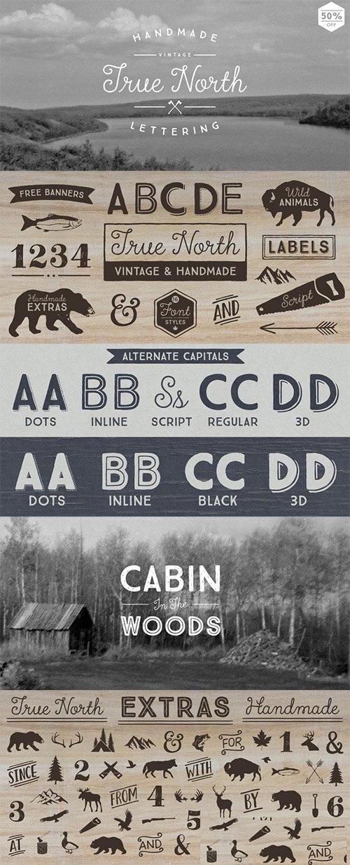 复古动物图标字体