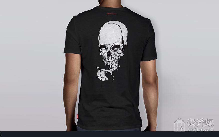 「赠送」男士短袖T-Shirt展示模板