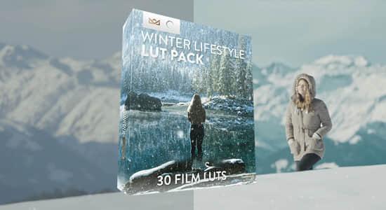 30种冬季户外环境生活场景LUTs调色预设(FCPX/PR/PS/AE/达芬奇/OFX) Bounce Color – Winter Lifestyle LUT Pack