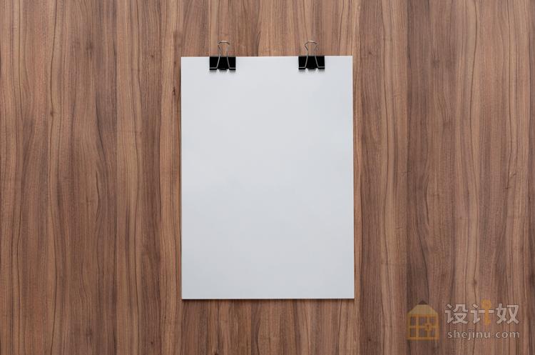 木纹背景的 vi 展示模板