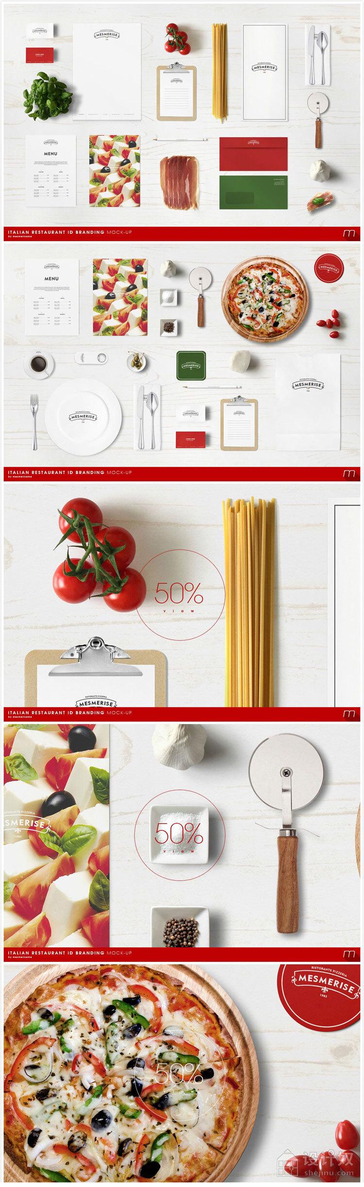 效果图模板 / vi / 西餐厅 vi 展示模板 /