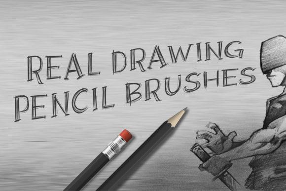 铅笔状素描PS笔刷透明素材,PS笔刷,铅笔笔刷,素描笔刷