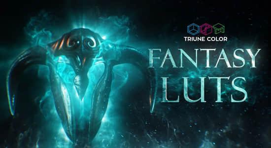 45组魔幻风格LUTs调色预设(FCPX/PR/PS/AE/达芬奇/OFX) Triune Digital – Fantasy LUTs