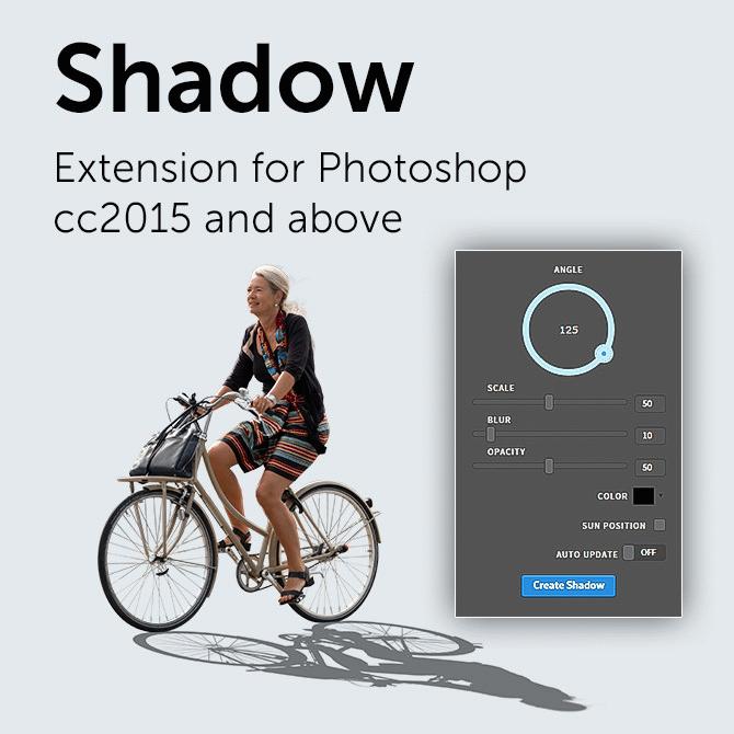PS逼真投影阴影生成插件-Shadow Photoshop Extension v1.0.3(win/mac)