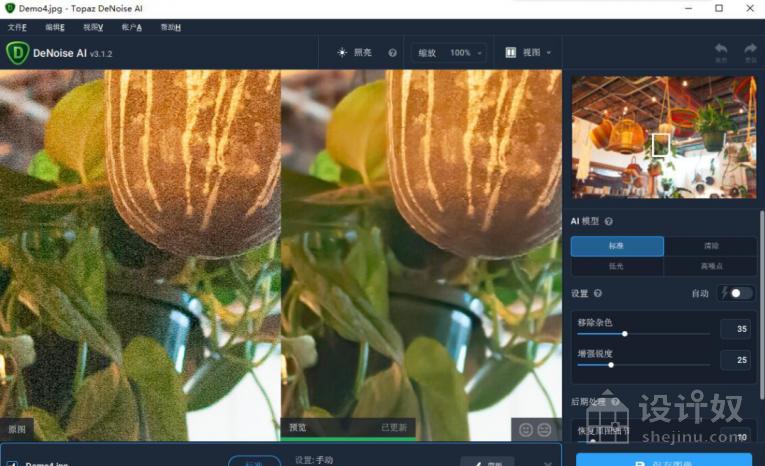 AI智能降噪插件Topaz DeNoise AI 3.1.2中文版