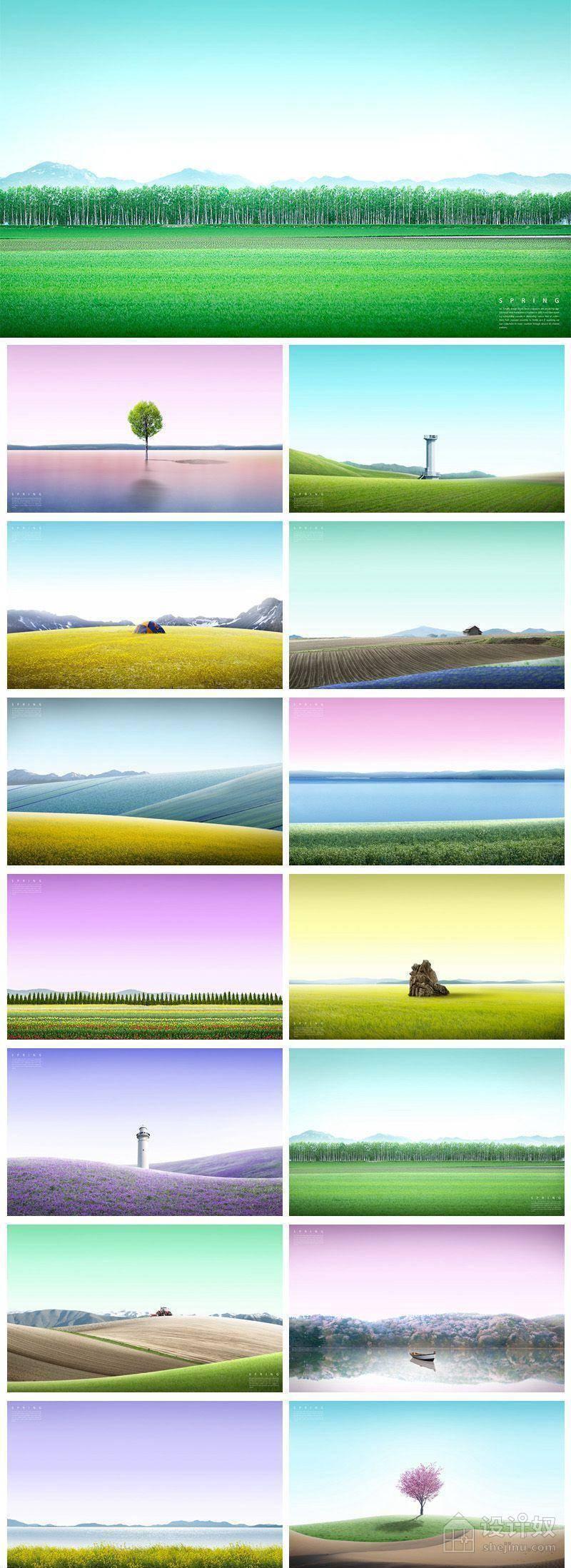 14款大气合成风景景色风光背景PSD格式