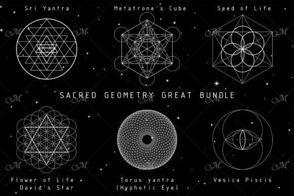 神奇多边形对称阵法几何元素矢量图形素材