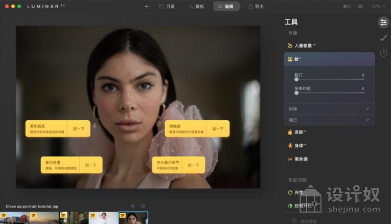 汉化版 AI人工智能修图插件Luminar AI for mac v1.4.0(9628)中文版【MAC】