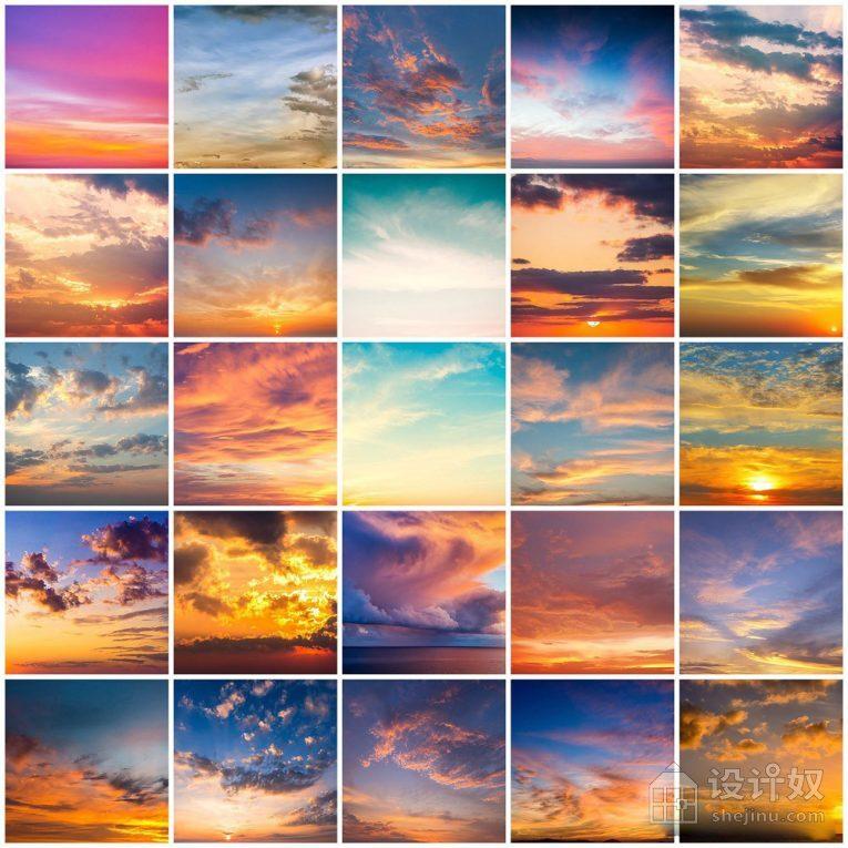 一键换天空-婚纱大片日落云彩PS动作+教程 Epic Sunsets Cloud