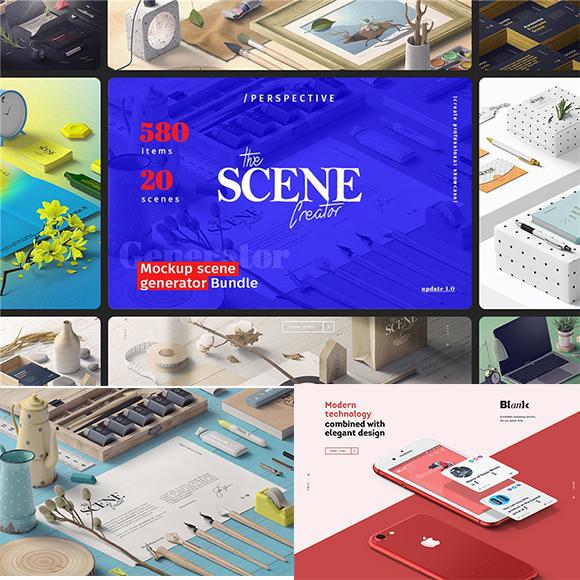 产品包装设计VI桌面展示场景贴图PS样机模型设计素材